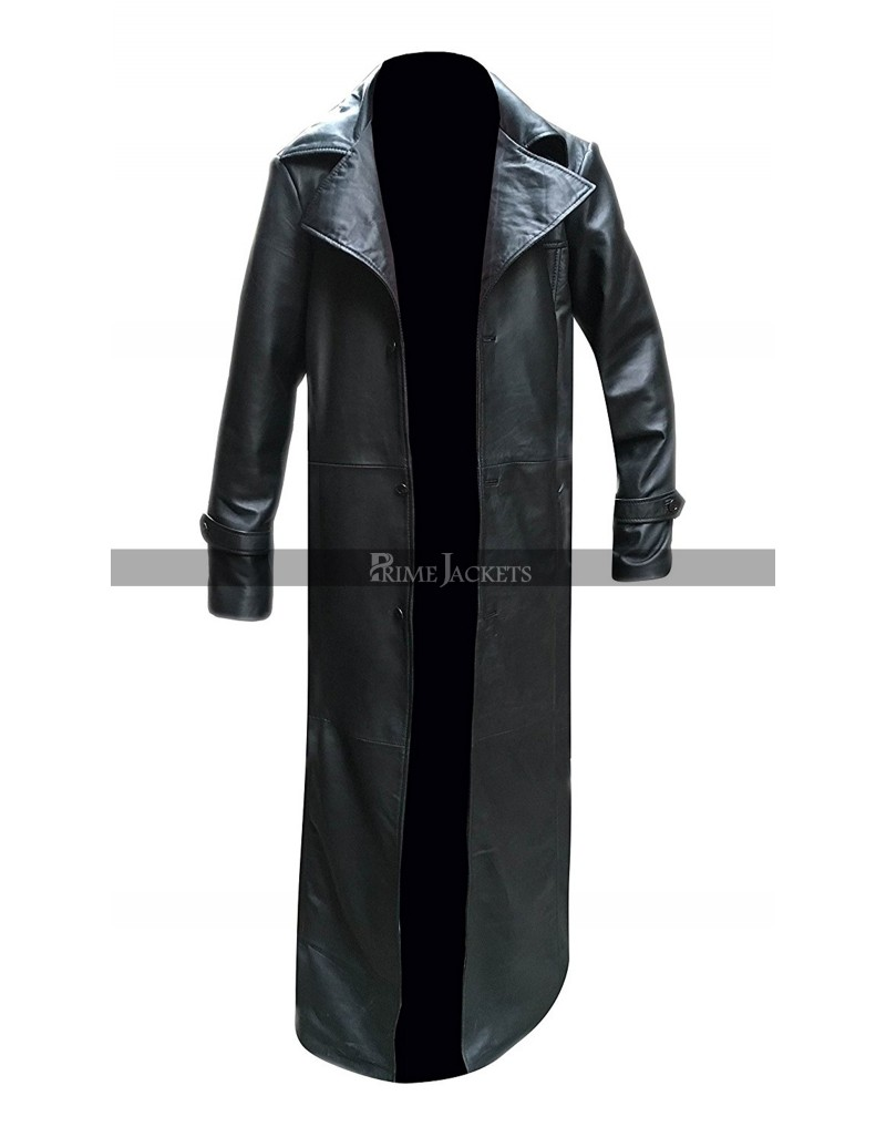 Buffy The Vampire Slayer James Marsters Spike Leather Trench Coat