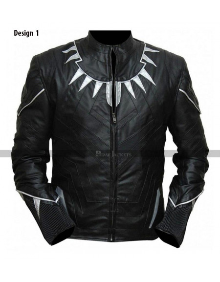 Black Panther Leather Jacket Costume