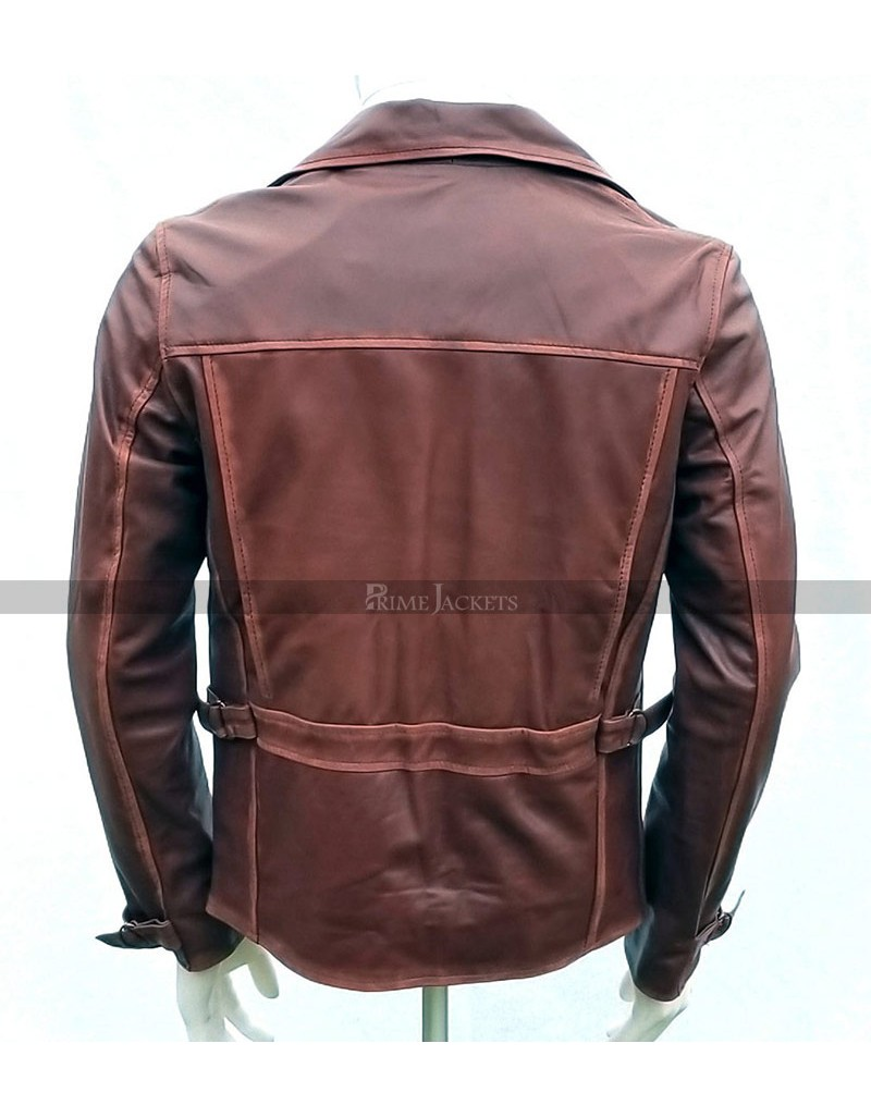 Captain America First Avenger Steve Rogers Brown Leather Jacket