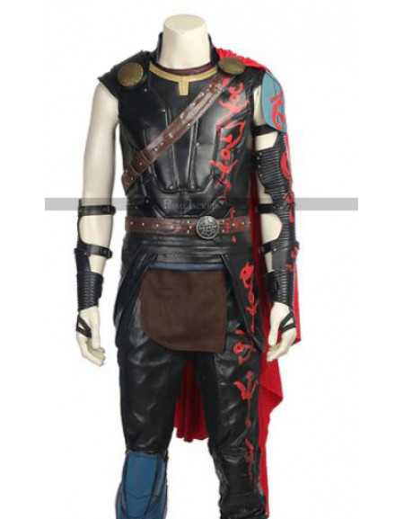 Thor Ragnarok Chris Hemsworth Armour Leather Vest Costume