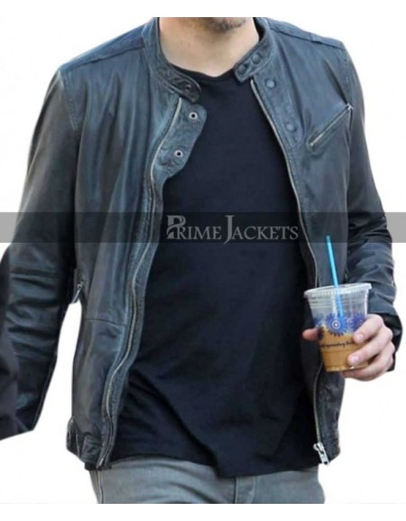 Horrible Bosses 2 Chris Pine (Rex Hanson) Black Leather Jacket