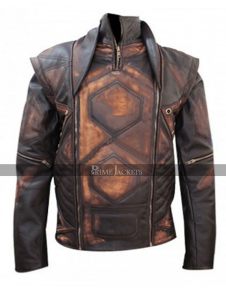 Distressed Copper Aniline Vintage Brown Classic Leather Jacket