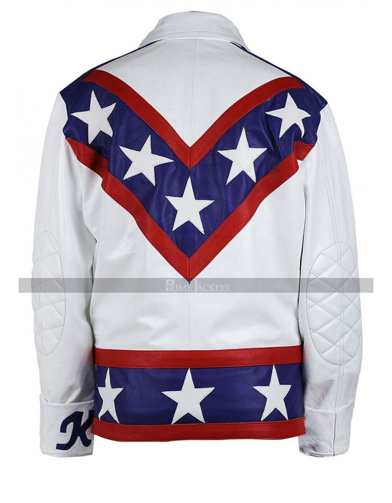 Evel Knievel Daredevil White Biker Leather Jacket Pants