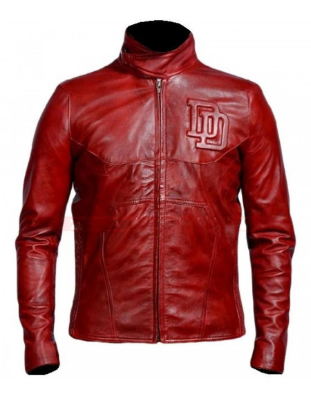 Daredevil Red Leather Jacket Costume Suit