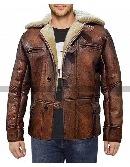 Dark Knight Rises Bane Shearling Jacket