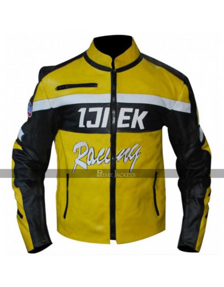 Dead Rising 2 Chuck Ijiek Greene Racing Yellow Hunting Mototcycle Jacket