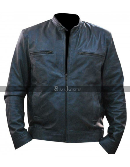 Dean Ambrose WWE Wrestler Grey Leather Jacket