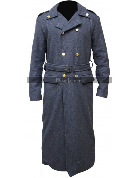 Doctor Who Captain Jack Harkness John Barrowman Long Grey Trench Coat