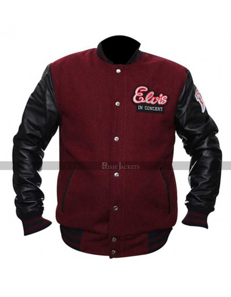 Elvis in Concert Varsity Jacket