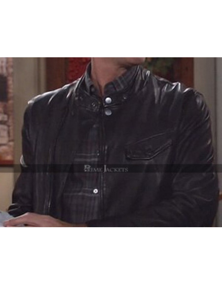 Will & Grace Eric McCormack Black Motorcycle jacket