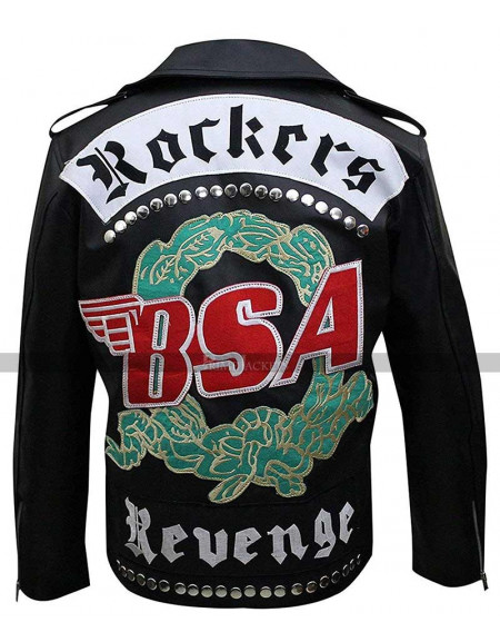 George Michael Jacket BSA Faith Rockers Revenge Black Biker Leather Jacket