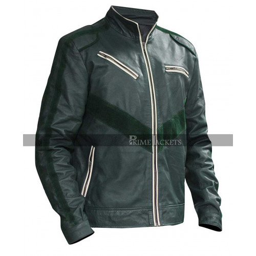 Far Cry 4 Game Ajay Ghale Green Costume Leather Jacket