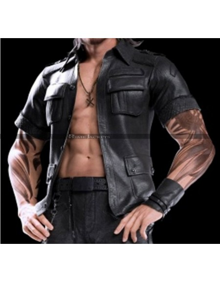 Gladiolus Amicitia Final Fantasy XV Black Leather Jacket