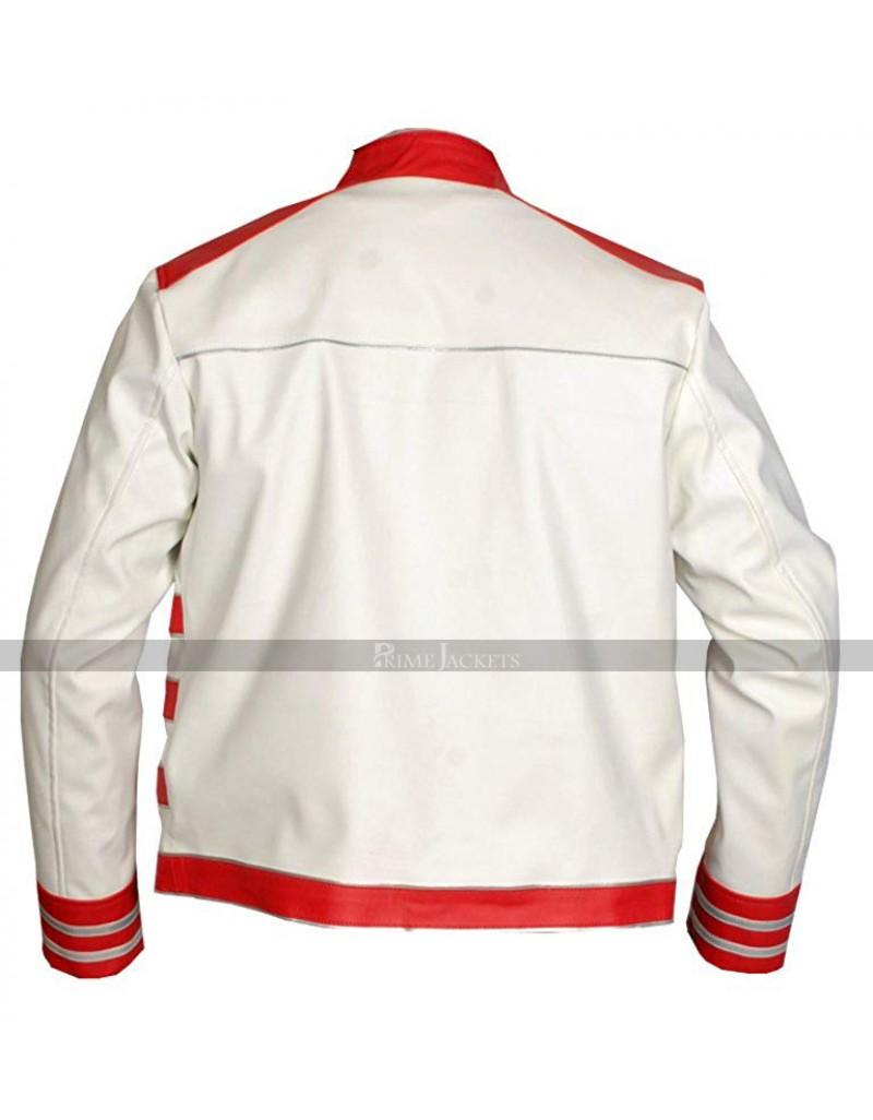 9d1e391cc Red And White Freddie Mercury Leather Jacket