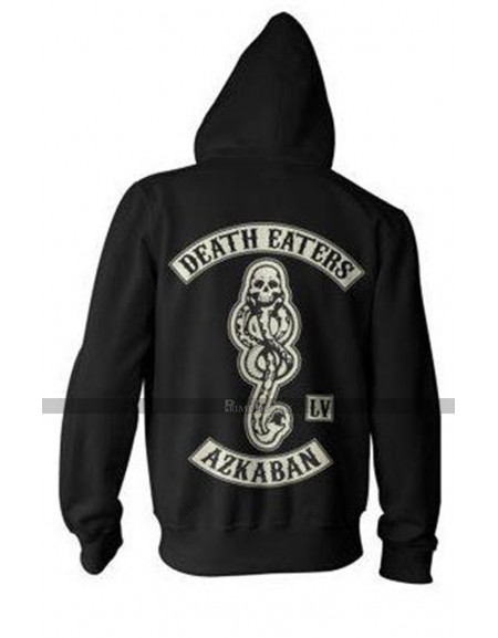 Harry Potter Death Eater of Azkaban Mens Zip Up Bomber Hoodie