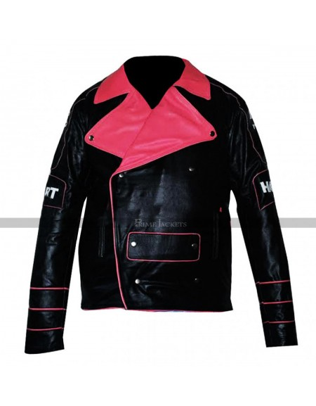 WWE Bret Hart Replica Hitman Black Jacket Pink Stripes