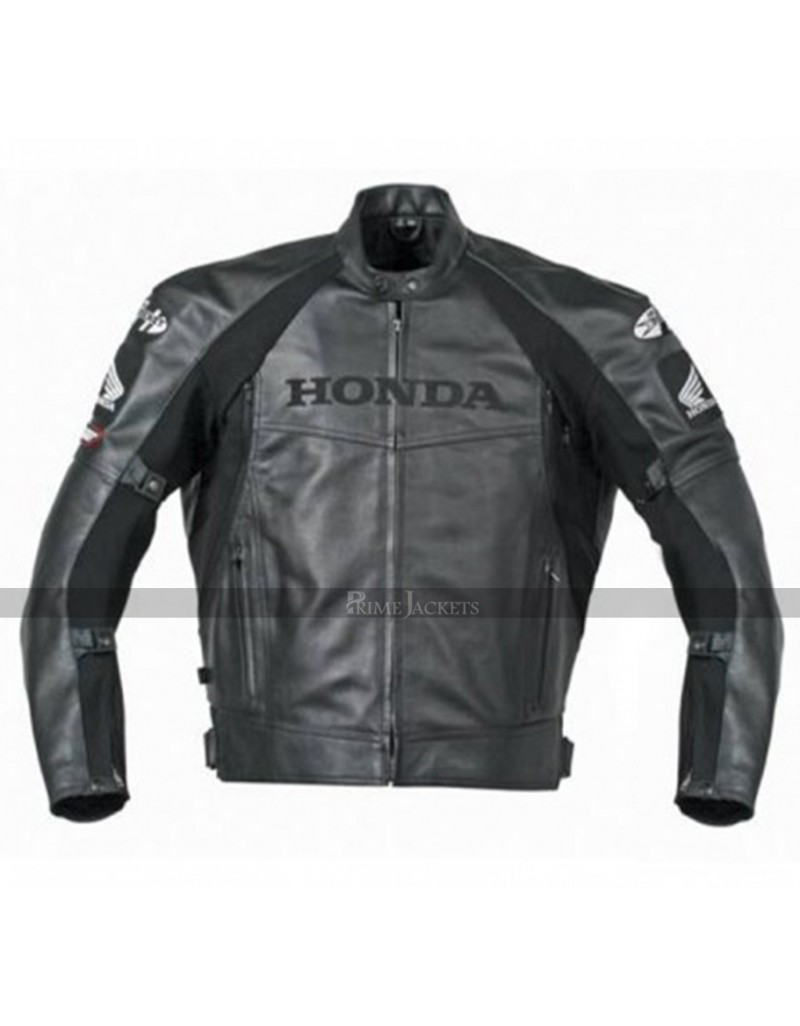 Honda Joe Rocket Superhawk Black Motorcycle Jacket