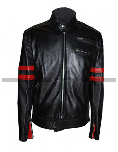 Brad Pitt Fight Club Hybrid Mayhem Leather Jacket