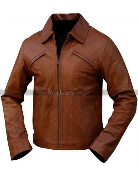 Inception Arthur Brown Leather Jacket