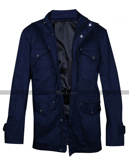 Supernatural Dean Winchester Navy Blue Cotton Jacket