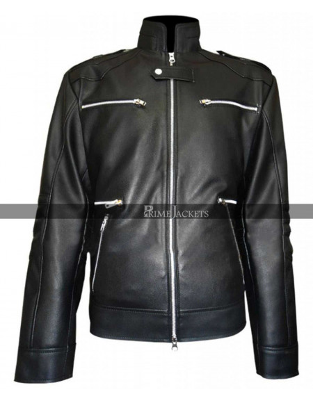 Breaking Bad S5 Jesse Pinkman Black Leather Jacket