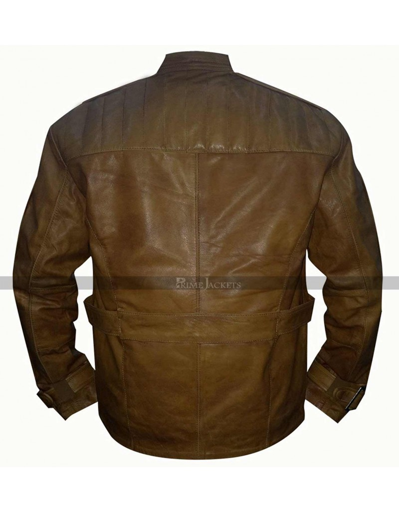 Finn The Force Awakens Star Wars John Boyega Brown Leather Jacket