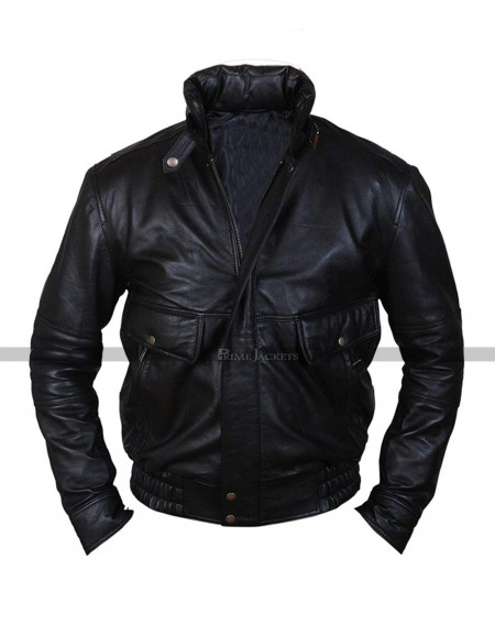 bea0ba7b6 Mens 8-Ball Supreme Leather Bomber Jacket Sale