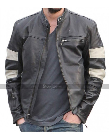 KRGT-1 Motorcycle Keanu Reeves Black Leather Jacket