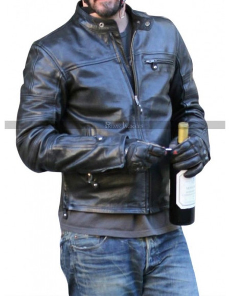KRGT 1 Keanu Reeves Leather Motorcycle Jacket