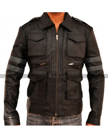 Leon Kennedy Resident Evil 6 Game Stripe Jacket