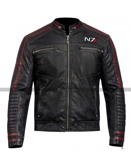 N7 Mass Effect 3 Motorcycle Leather Jacket