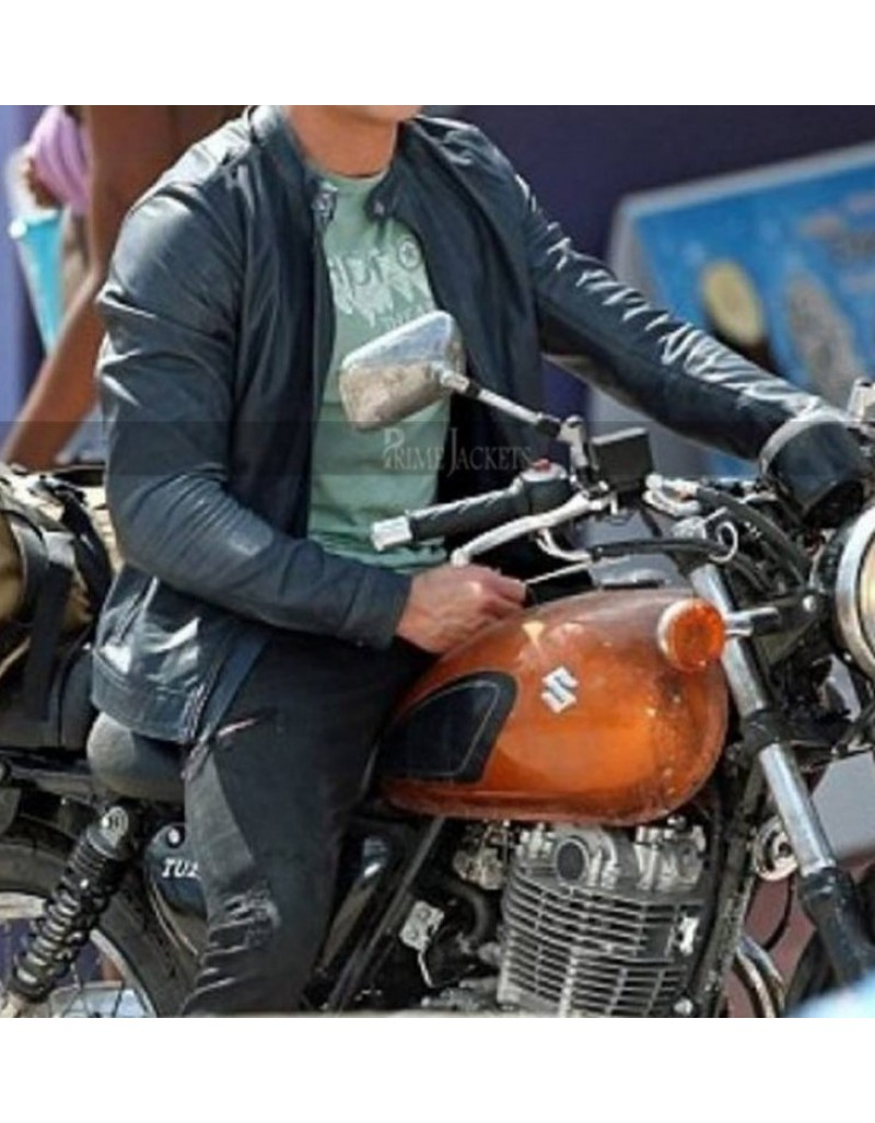 Baywatch Zac Efron Motorcycle Leather Jacket