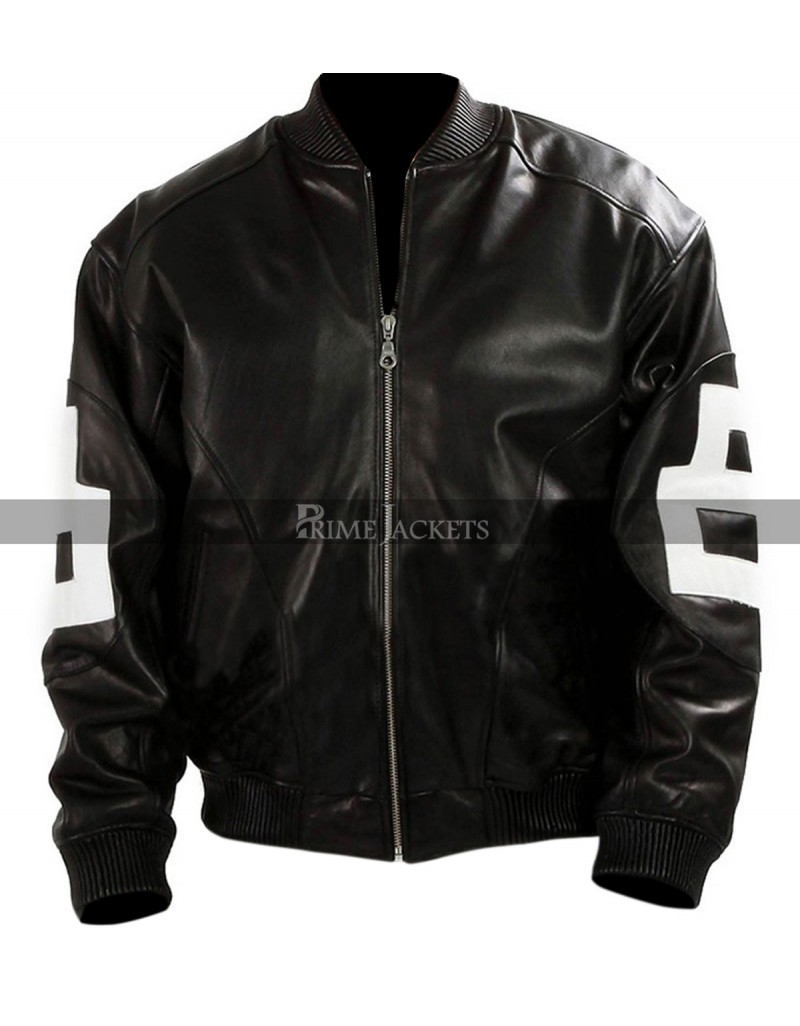 Mens 8-Ball Supreme Leather Bomber Jacket Sale 60a5992101fe