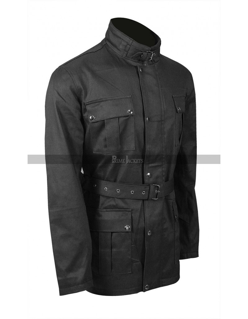 New Mens Lewis Creek Motorcycle Belted Cotton Jacket