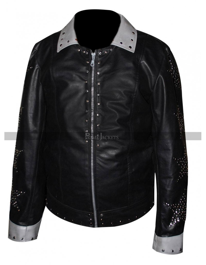 Kiss Starchild Paul Stanley Alive Metal Studs Leather Jacket