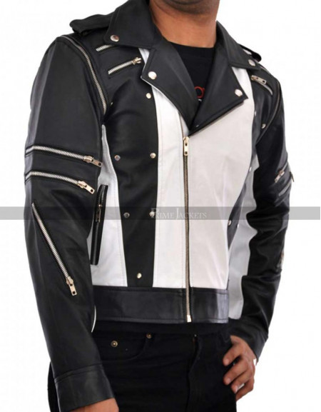 Michael Jackson Pepsi Tour Commercial Motorcycle Leather Jacket