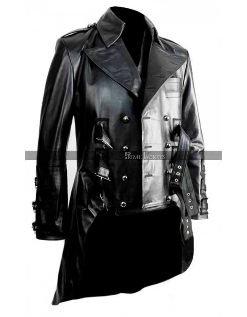 aliexpress authentic shop for Impero London Mens Luxury Leather Military Tail Coat
