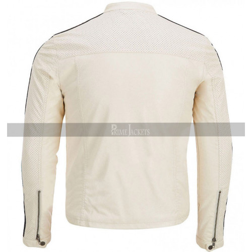 Tobey Marshall Need for Speed Aaron Paul White Leather Jacket