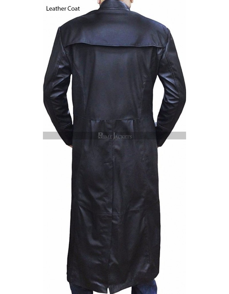Neo Matrix Trench Coat Keanu Reeves Black Trench Coat