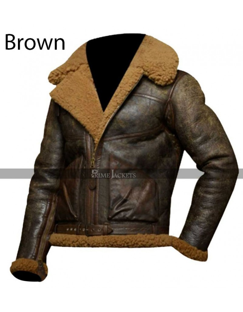 a263a008d Polo Ralph Lauren Dover Shearling Brown Bomber Jacket