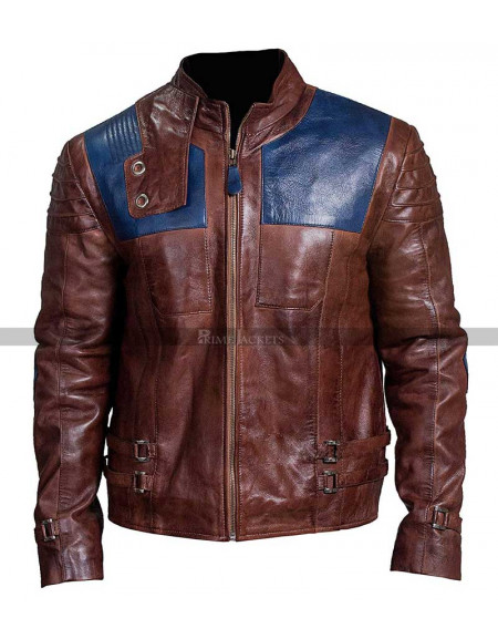Cameron Cuffe Krypton Seyg-El Brown Leather Jacket
