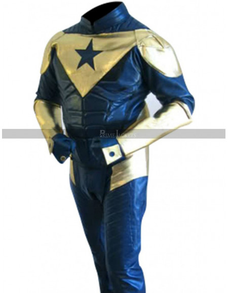 Smallville Booster Gold Eric Martsolf Leather Jacket Costume