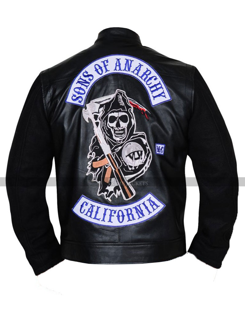 sons of anarchy men 39 s highway leather jacket. Black Bedroom Furniture Sets. Home Design Ideas
