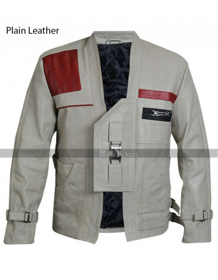 Finn Star Wars The Last Jedi John Boyega Brown Leather Jacket