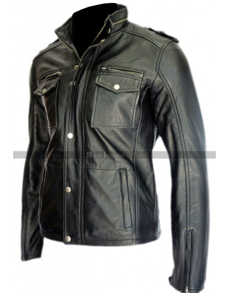 Shameless Justin Chatwin Black Leather Jacket For Sale