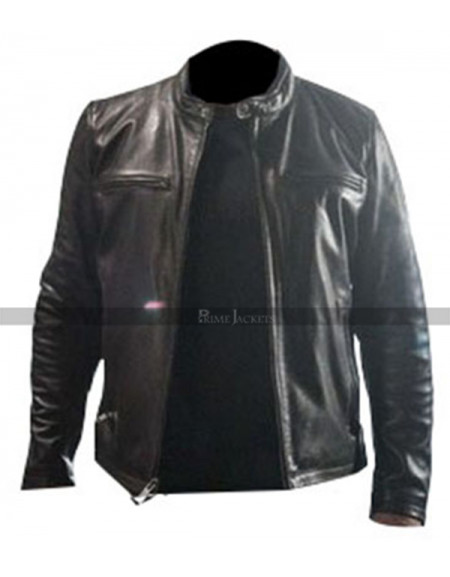 Sylvester Stallone Backtrace Black Lether Jacket