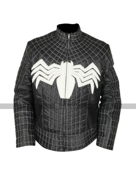Spider Man Black Venom Leather Jacket