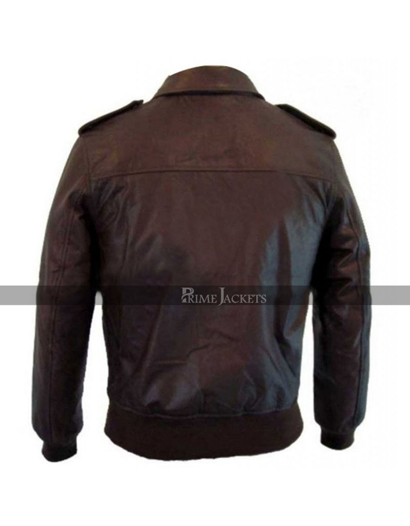 Vintage Fit 1930's Classic Bomber Biker Leather Jacket