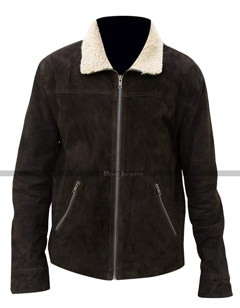ANDREW LINCOLN WALKING DEAD RICK GRIMES SUEDE MEN/'S LEATHER JACKET
