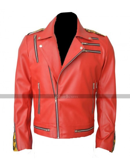 Enzo Amore Red Motorcycle Jacket